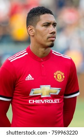 CARSON, CA - JULY 15: Chris Smalling during Manchester United's summer tour friendly against the L.A. Galaxy on July 15th 2017 at the StubHub Center.