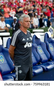 CARSON, CA - JULY 15: Jose Mourinho during Manchester United's summer tour friendly against the L.A. Galaxy on July 15th 2017 at the StubHub Center.