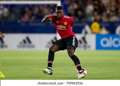 CARSON, CA - JULY 15: Paul Pogba during Manchester United's summer tour friendly against the L.A. Galaxy on July 15th 2017 at the StubHub Center.