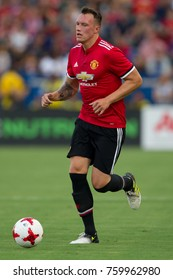 CARSON, CA - JULY 15: Phil Jones during Manchester United's summer tour friendly against the L.A. Galaxy on July 15th 2017 at the StubHub Center.