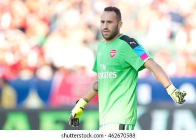 CARSON, CA - JULY 31: David Ospina during the friendly soccer game between Chivas Guadalajara and Arsenal on July 31st 2016 at the StubHub Center.