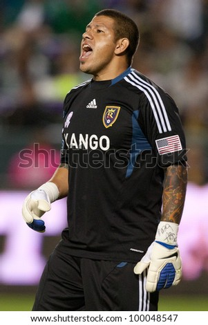 631fd12cd OCT 1: Real Salt Lake GK Nick Rimando #18 during the MLS game between Real  Salt Lake & the Los Angeles Galaxy on Oct 1 2011 at the Home Depot Center.