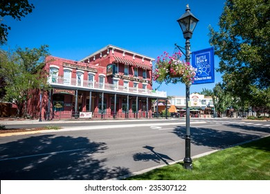 CARSON CITY, NEVADA/UNITED STATES - AUGUST 24, 2014: Historic downtown photographed on August 24, 2014 in Carson City, Nevada.