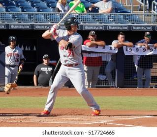 Carson Kelly catcher for the Peoria Javelinas at Peoria Stadium in Peoria  Arizona USA November 17 e95c74e53