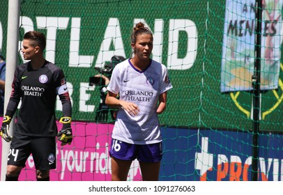 Carson Pickett  defender for Orlando Pride at Providence Park in Portland Oregon USA May 12,2018.