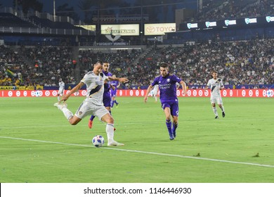 Carson, USA, July 29, 2018: Swedish soccer player Zlatan Ibrahimovic, during MLS Soccer league match,  between LA Galaxy vs Orlando City at StubHub Stadium.