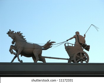 Cart and Horses Statue