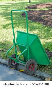 Cart mortar 2 wheel in the park.