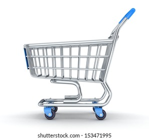 Cart on a white background (done in 3d)