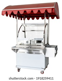 cart to prepare fast food, in stainless stee
