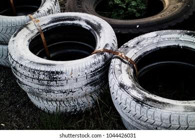 Cart tire detail