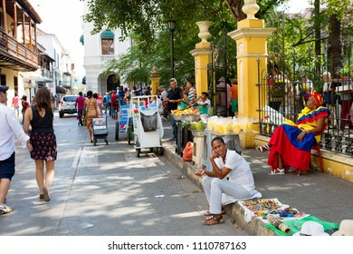Cartagena, Colombia, 03/12/2016, on the streets. The city is the center of cultural, beach, cruise and sports recreation.