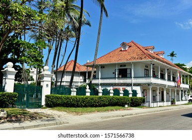 Cartagena, Bolívar/ Colombia; 11/25/2019: Beautiful House Museum Rafael Nuñez, where I've lived and ruled the four times president of the Republic of Colombia in the El Cabrero neighborhood.