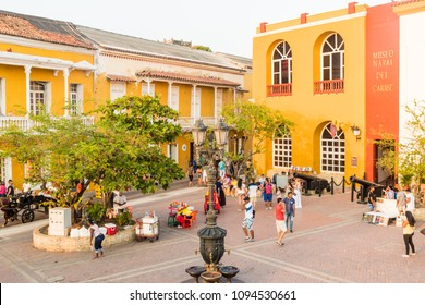Cartagena, Colombia. April 2018. A view of the museum of naval Caribe, in Cartegena, Colombia.