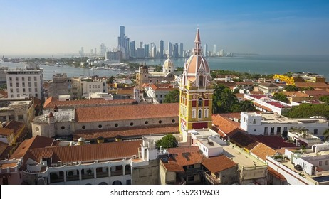 Cartagena Colombia Drone Hd Stock Images Shutterstock