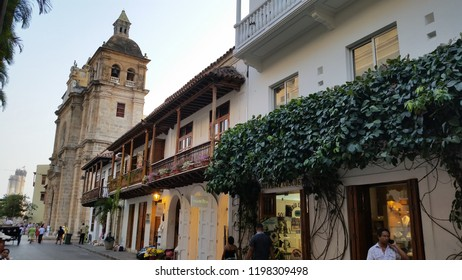 Cartagena, Colombia, September, 2018: Cartagena de Indias Colombia. historic city center whit colonial buildings.