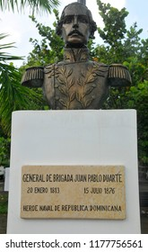 CARTAGENA DE INDIAS COLOMBIA 11 07 2012: Statue of Juan Pablo Duarte  is one fathers of the Dominican Republic. He was a visionary, national hero and liberal thinker