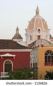 Cartagena de Indias colorful domes. Colombia