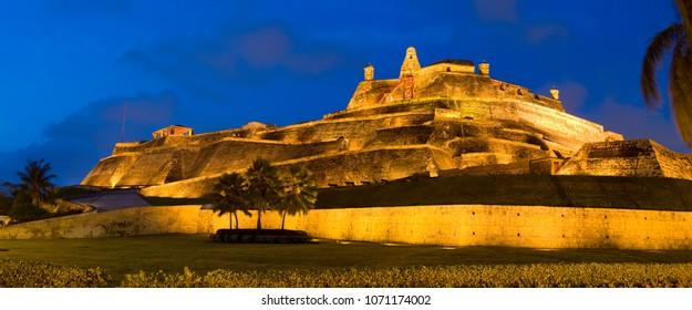 Cartagena de Indias night Colombia