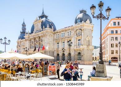 CARTAGENA - SPAIN, 2 APRIL 2017: City tour in the Historic Cartagena Spain