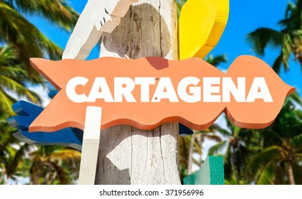 Cartagena Welcome Sign