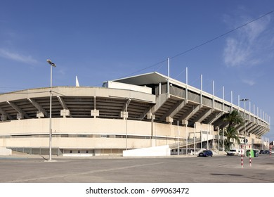 Cartagonova stadium in the city of Cartagena. Province of Murcia, southern Spain