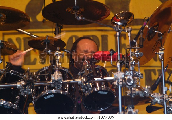 Carter Beauford - drummer for Dave Matthews Band at the 2005 New Orleans Jazzfest