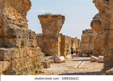 CARTHAGE / TUNIS - JUNE 2015: Ruins of the ancient Carthage city, Tunisia