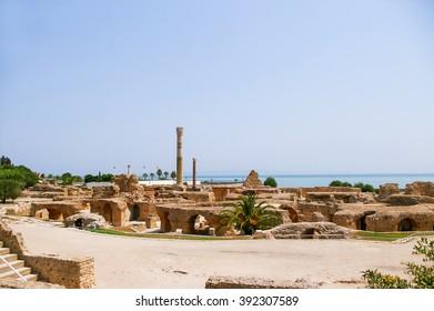 Carthago (Carthage), ruins of capital city of the ancient Carthaginian civilization. UNESCO World Heritage Site. Tunis, Tunisia.