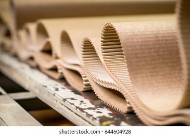 carton processing at a factory
