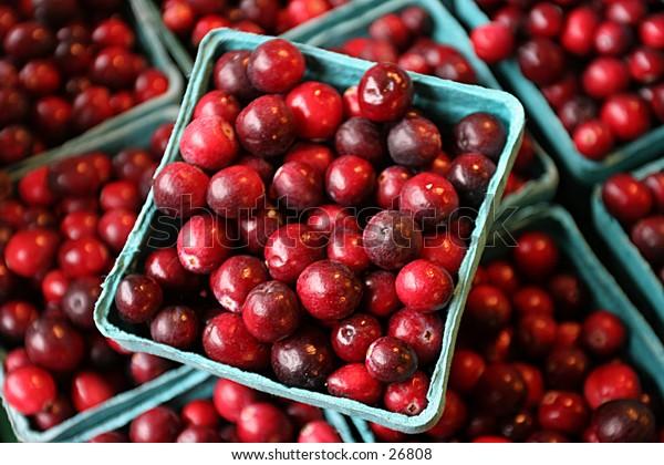 cartons of cranberries
