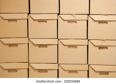 Cartons packaging for transport.