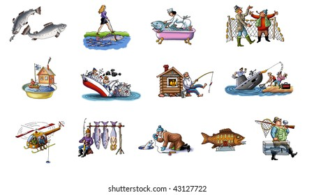 Cartoon about fishing