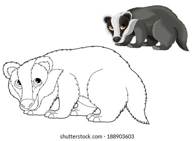 Cartoon animal - wild - illustration for the children