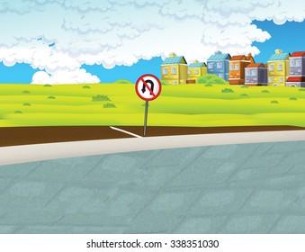 Cartoon background- illustration for the children
