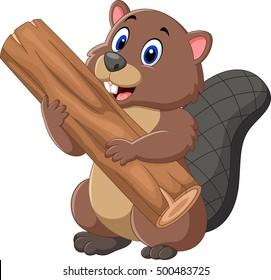 beaver cartoon images stock photos vectors shutterstock rh shutterstock com cartoon beaver images free canadian beaver cartoon images