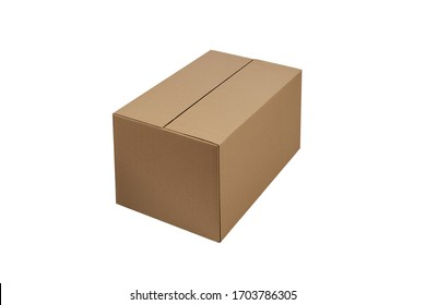 cartoon box isolated on white box for parcels and crossings. moving box.