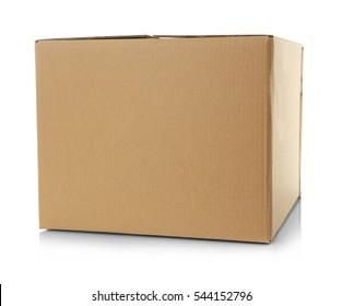 Cartoon box isolated on white