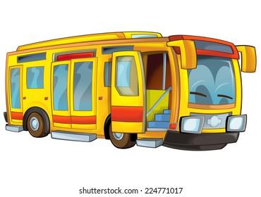 Cartoon bus - illustration for the children