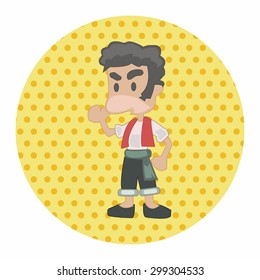 cartoon character person theme elements