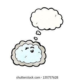 cartoon cloud with silver lining