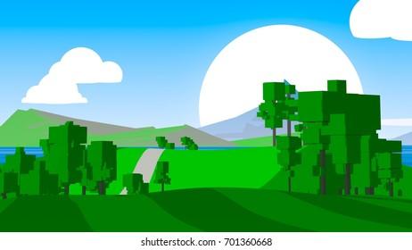 Cartoon Countryside.