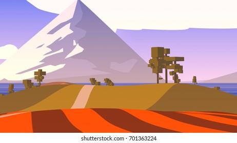 Cartoon Countryside Stylized.