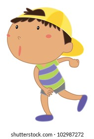 Cartoon of a cute little kid - EPS VECTOR format also available in my portfolio.