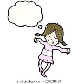 cartoon dancing girl