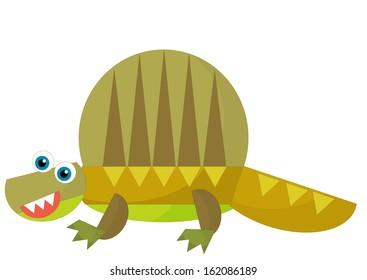 Cartoon dinosaur - illustration for the children