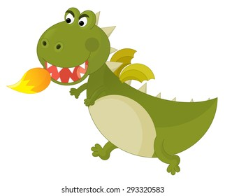 Cartoon dragon - illustration for the children