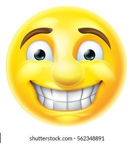 Cartoon emoji emoticon smiling smiley face character