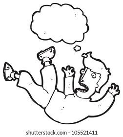 cartoon falling man