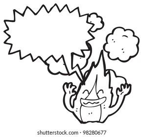 cartoon fire character